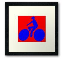 Blue bike Framed Print