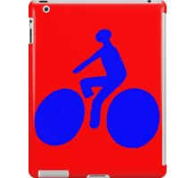 Blue bike iPad Case/Skin
