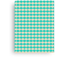 Ocean Blue and Sand Scallop Pattern Design Canvas Print