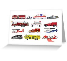 Emergency Vehicles - The Kids' Picture Show - 8-Bit Greeting Card