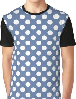 Seamless pattern with polka dot on blue background Graphic T-Shirt