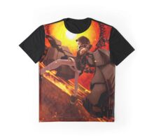 Black Rock Shooter Fire Graphic T-Shirt