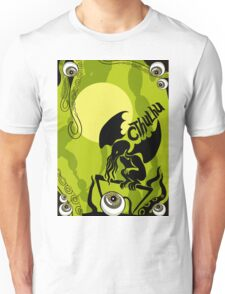 Cthulhu: Monsters Halloween silhouette. Unisex T-Shirt