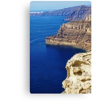 Santorini Coastline Canvas Print