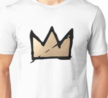 Gold & Black Basquiat Crown  Unisex T-Shirt