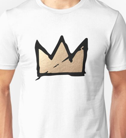 Gold & Black Basquiat Crown  Unisex T-Shirt