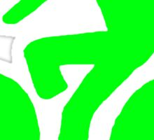Green bike Sticker