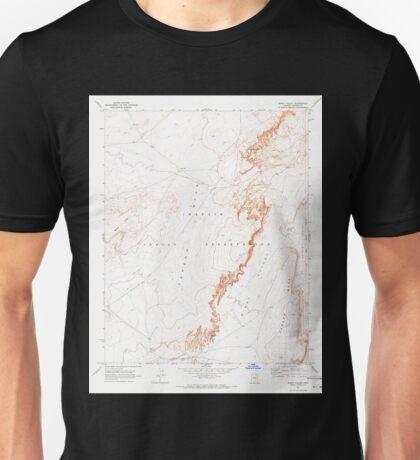 USGS TOPO Map Arizona AZ Windy Valley 314146 1968 24000 Unisex T-Shirt
