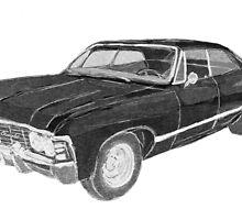 '67 Chevy Impala (Supernatural) by bananadaiquiri