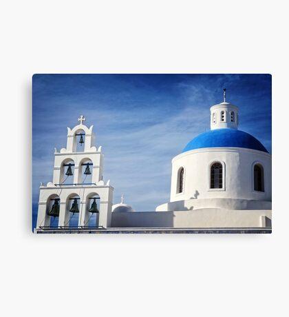 Church in Santorini Canvas Print