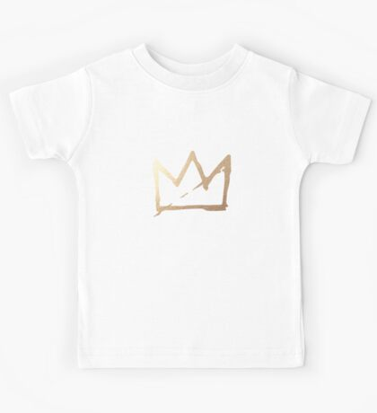 Gold Basquiat Crown Kids Tee
