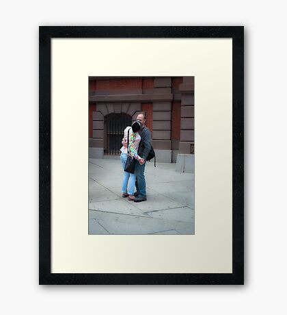 Romance and a Kiss Framed Print