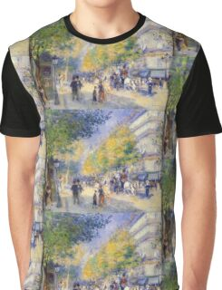 Renoir Auguste - The Great Boulevards 1875 Graphic T-Shirt