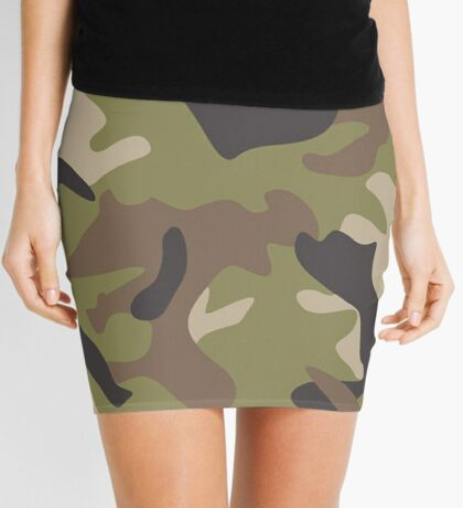 Armed Forces, Camo Pattern Mini Skirt