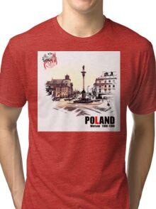 Poland - Polska Warsaw Warszawa Tri-blend T-Shirt
