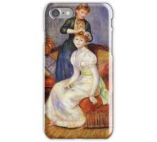 Renoir Auguste - The Coiffure 1888 iPhone Case/Skin