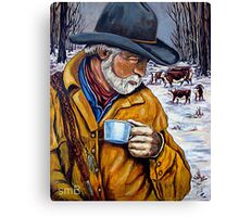Camp Coffee #4 - Cedar Pocket Canvas Print