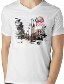 Poland - Warsaw Krakowskie Przedmiescie Mens V-Neck T-Shirt