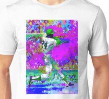 BASEBALL PLAYER; Psychedelic Whimsical Art Print Unisex T-Shirt