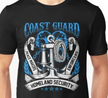 Coast Guard Art United States Military USA Soldier Anchor Ship Sea Homeland Security Vintage Distressed Grunge War Veteran Gift Unisex T-Shirt