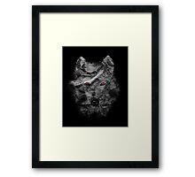 Ghost - Black Framed Print