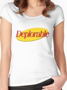 I don't wanna be deplorable! Women's Fitted Scoop T-Shirt