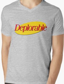 I don't wanna be deplorable! Mens V-Neck T-Shirt