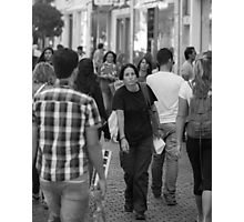 Pretty Face in a Crowd Photographic Print