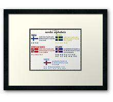 Nordic alphabets poster Framed Print