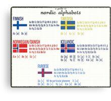 Nordic alphabets poster Metal Print