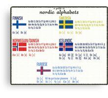 Nordic alphabets poster Canvas Print