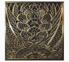 Art deco,vintage,1920 era,the Great Gatsby,elegant,chic,gold,silver,bronze,pattern,trendy,modern,floral One Piece - Short Sleeve