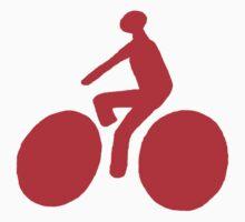 Red bike One Piece - Short Sleeve