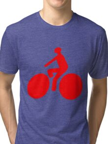 Red bike Tri-blend T-Shirt