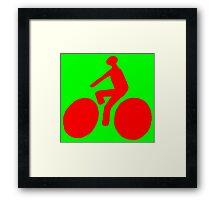 Red bike Framed Print