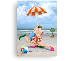 Tango On The Beach Canvas Print