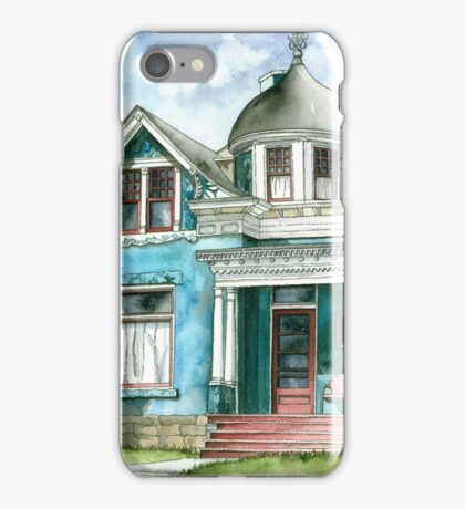 The House with Red Trim iPhone Case/Skin