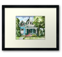 The House with Red Trim Framed Print