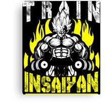 TRAIN INSAIYAN (Vegeta Dumbbells) Canvas Print