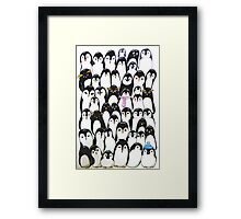 Huddled up Framed Print