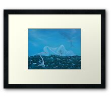 Seasick Yet Still Docked Framed Print