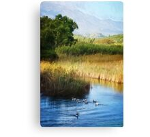 Peaceful Scene in Crete Canvas Print
