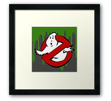 """""""I Ain't Afraid of No Ghost"""" Ghostbusters Stay Puft Mashmallow Man Green Slime Slimer Framed Print"""