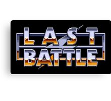 LAST BATTLE - CLASSIC SEGA GENESIS  Canvas Print