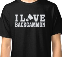 I Love Backgammon - Sports Athlete Player T Shirt Classic T-Shirt