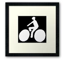 White bike Framed Print