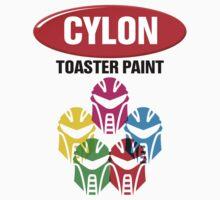 Cylon Toaster Paint One Piece - Short Sleeve