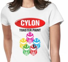 Cylon Toaster Paint Womens Fitted T-Shirt