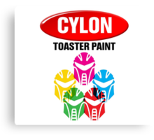 Cylon Toaster Paint Canvas Print