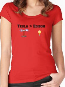 Tesla > Edison Women's Fitted Scoop T-Shirt
